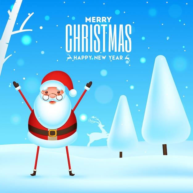 Feliz navidad y próspero año nuevo Vector Premium