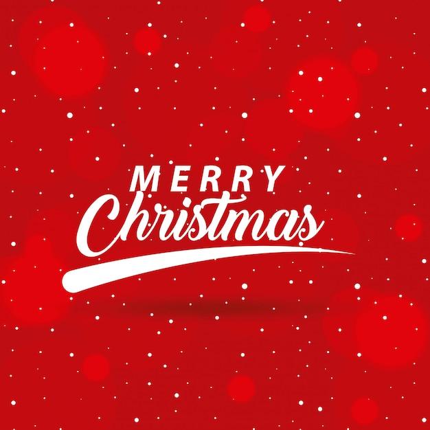 Feliz navidad relacionada Vector Premium