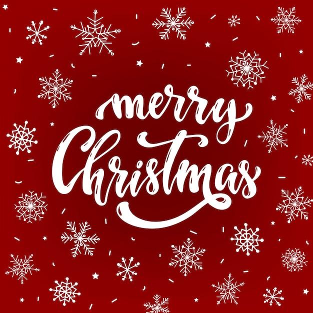 Feliz navidad tarjeta de felicitación, póster, pancarta Vector Premium