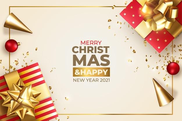 Feliz navidad vector gratuito