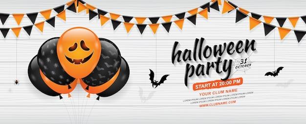 Feliz plantilla de banner de fiesta de halloween | Descargar ...