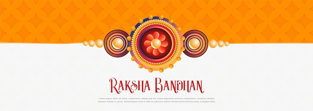 Feliz raksha bandhan festival banner diseño vector gratuito