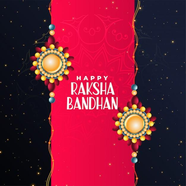 Feliz raksha bandhan festival hermoso saludo vector gratuito