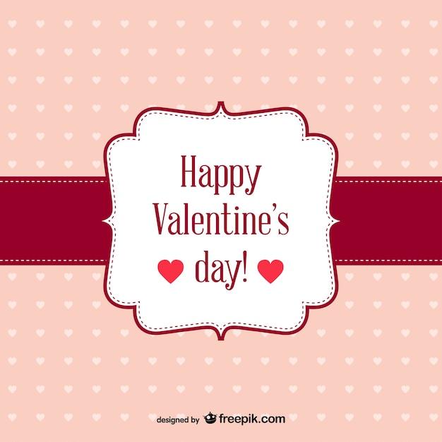 Feliz san valent n tarjeta retro gratis descargar - Postales dia de san valentin ...
