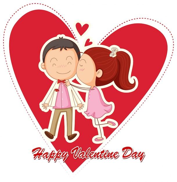 Feliz San Valentin Vector Gratis