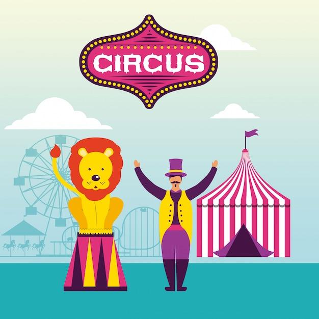 Feria de circo vector gratuito