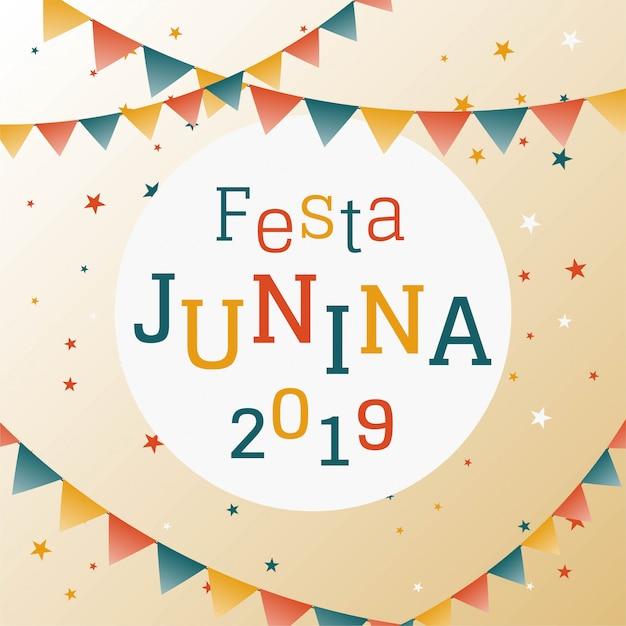Festa junina antecedentes Vector Premium