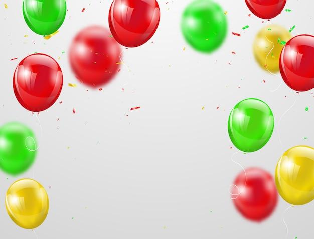 Festa junina globos de colores, Vector Premium