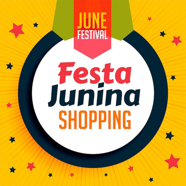 Festa junina shopping banner design vector gratuito