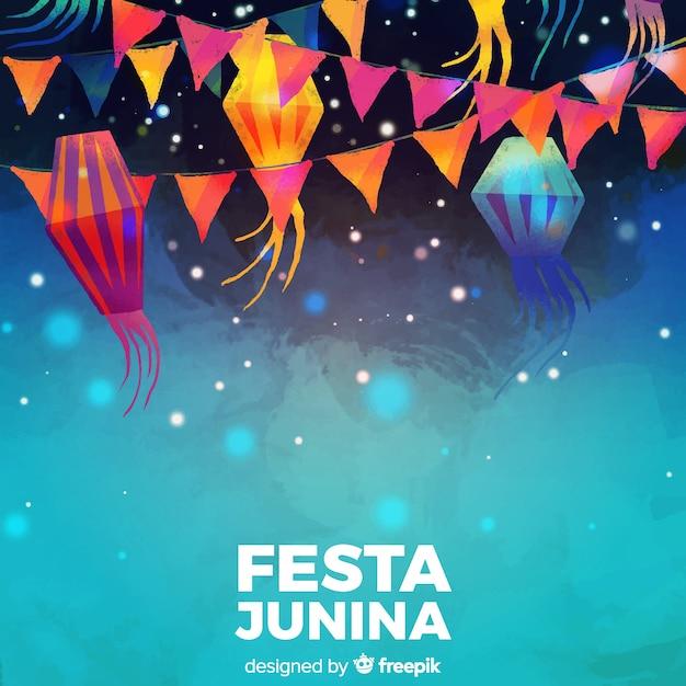 Festa junina vector gratuito