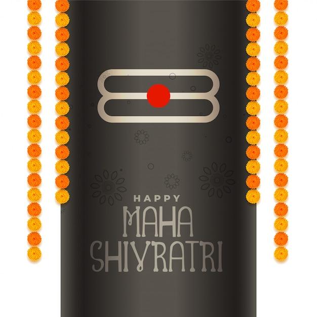 Festival de fondo de maha shivratri evento vector gratuito