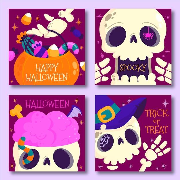 Festival de halloween estilo de publicación de instagram vector gratuito