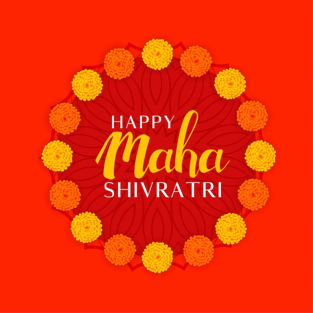 Festival hindú maha shivratri del señor shiva vector gratuito