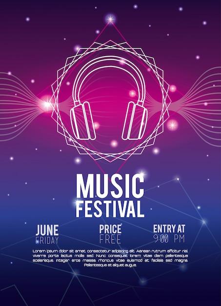 Music Flyer | Festival Music Flyer Techno Concept Descargar Vectores Premium