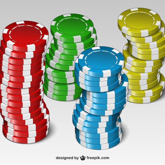 Fichas de casino de colores