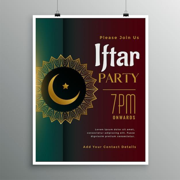 Fiesta de celebración de iftar para la temporada de ramadán. vector gratuito