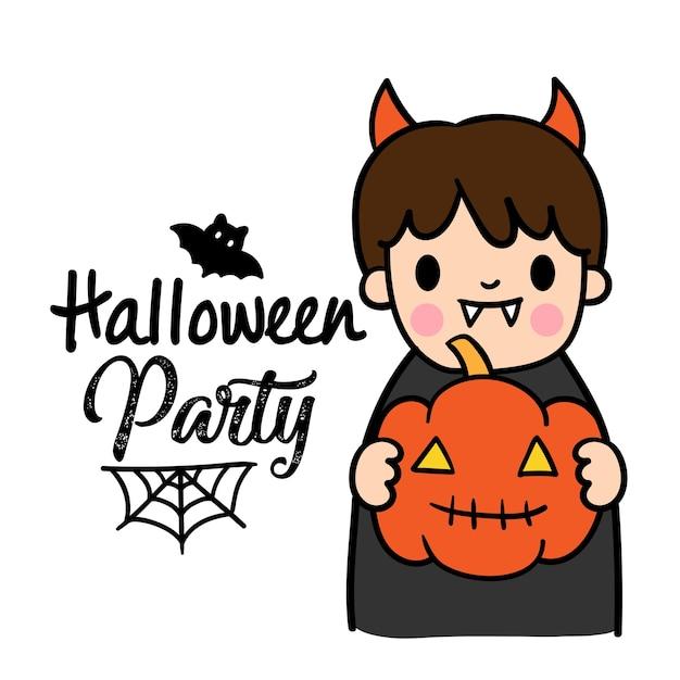 Fiesta de disfraces de halloween para niños. | Descargar Vectores ...