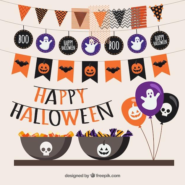 Fiesta feliz halloween Vector Premium