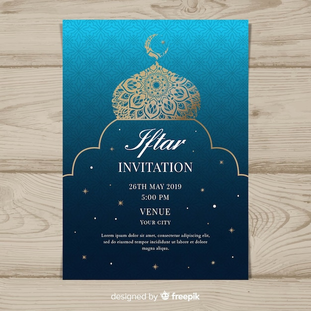 Fiesta iftar vector gratuito