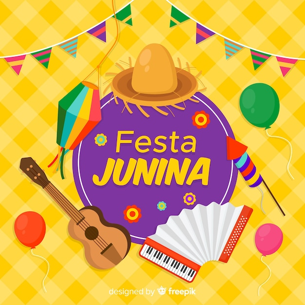 Fiesta junina vector gratuito