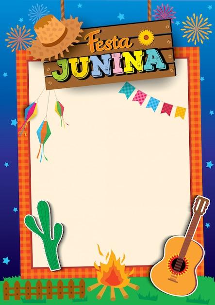 Fiesta junina Vector Premium
