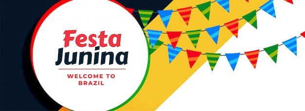Fiesta latinoamericana fiesta junina vector gratuito