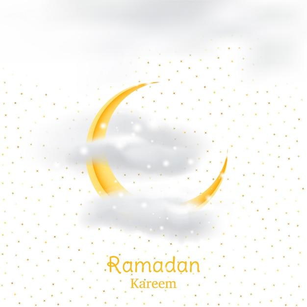 Fiesta musulmana del mes sagrado del ramadán kareem. Vector Premium
