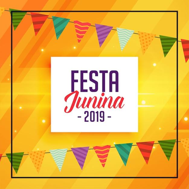 Fiesta tradicional decorativa de junina. vector gratuito