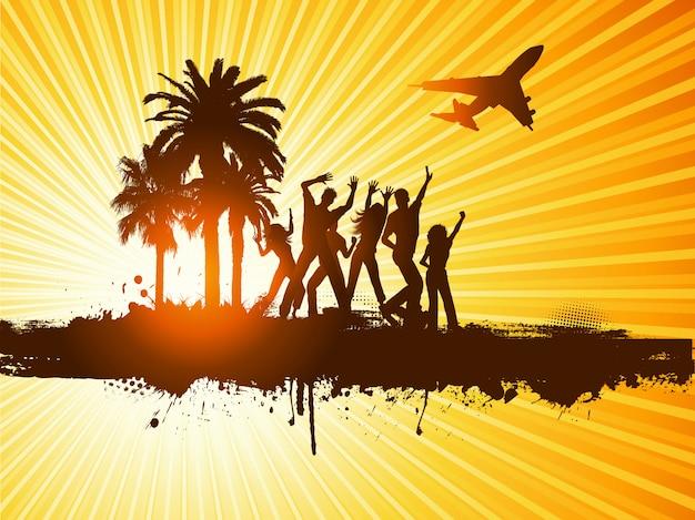 Fiesta de verano vector gratuito
