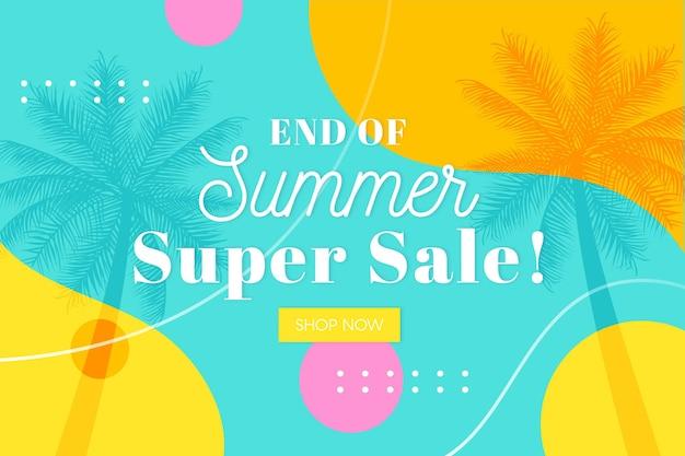 Fin de temporada venta de verano vector gratuito