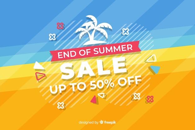 Finales de ventas de fondo de verano. vector gratuito