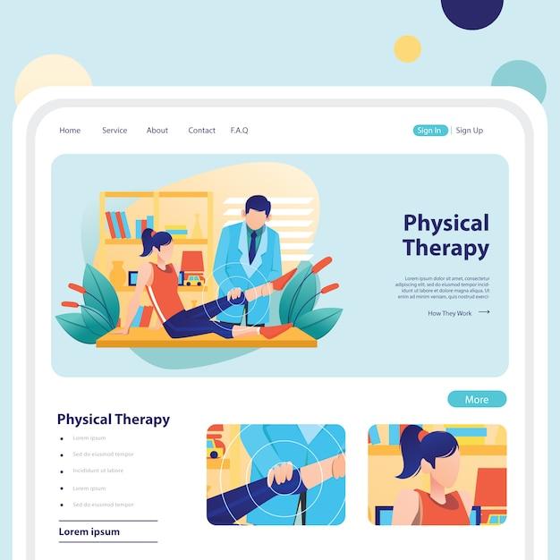 Fisioterapia para lesiones deportivas Vector Premium