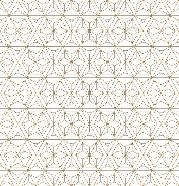 Sin fisuras patrón geométrico basado en adornos japoneses kumiko. Vector Premium