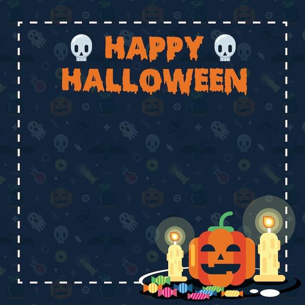 Flayer de halloween Vector Premium