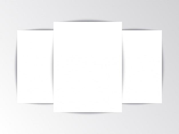 Flayer plantilla folleto en blanco sobre fondo blanco Vector Premium