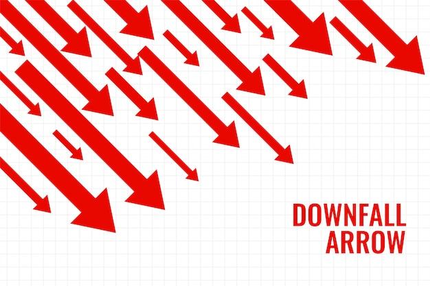Flecha de caída comercial que muestra tendencia a la baja vector gratuito