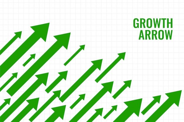Flecha de crecimiento empresarial que muestra tendencia al alza vector gratuito