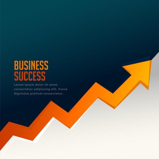 Flecha de crecimiento de éxito empresarial con flecha hacia arriba vector gratuito