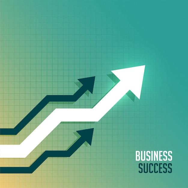 Flecha de negocios líder hacia el fondo del lado ascendente vector gratuito