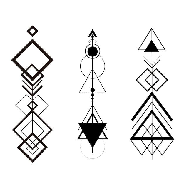 Flechas Geométricas De Hipster Tribal Descargar Vectores Premium