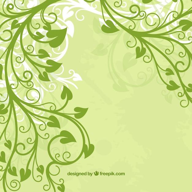 flor de hoja verde Vector Gratis