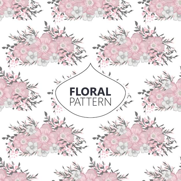 Flor de estilo vintage de patrones sin fisuras vector gratuito
