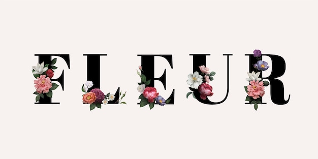 Flor en flor vector gratuito