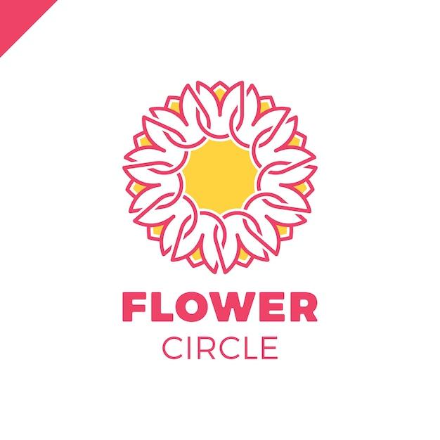 Flor logo círculo plantilla de vector de diseño abstracto. icono de tulip  spa. cosméticos hotel garden salón de belleza concepto de logotipo. 100a3c97cd61