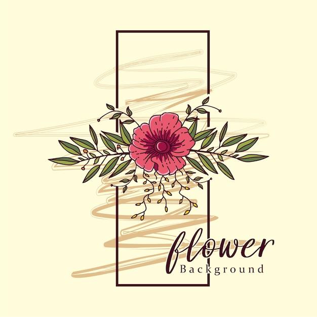 Flor vintage pared marco decoración arte vektor | Descargar Vectores ...