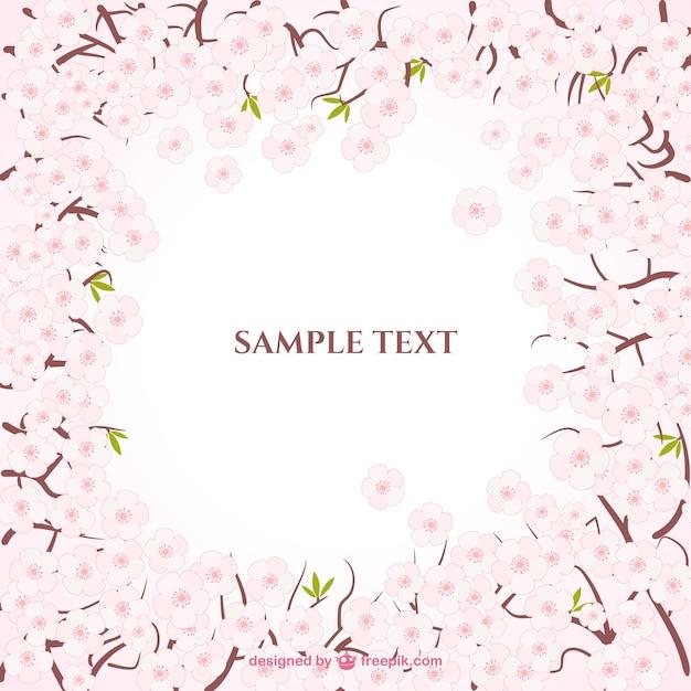 Flores de cerezo marco | Descargar Vectores gratis