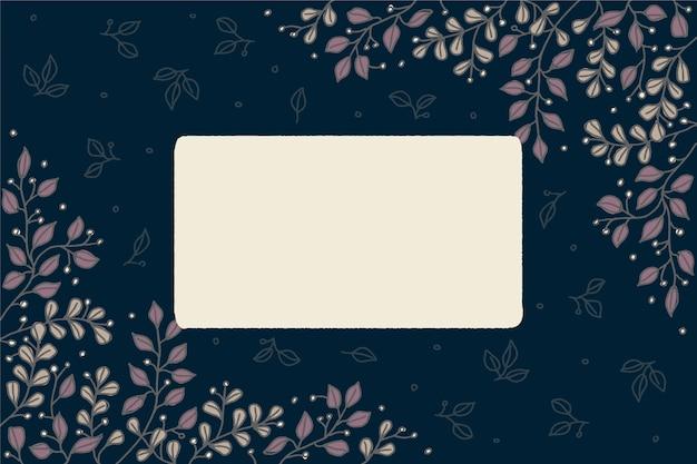 Flores de invierno con banner vacío vector gratuito