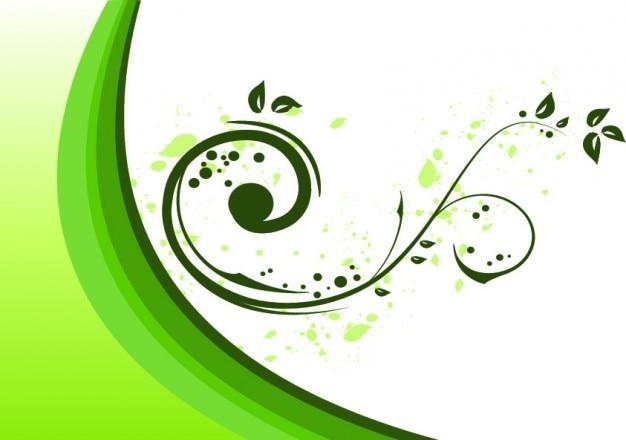 Fondo Blanco Con Verde: Florezca Ornamento En Verde Sobre Fondo Blanco
