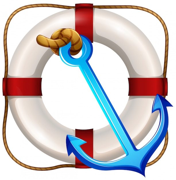 Flotador de seguridad y ancla vector gratuito
