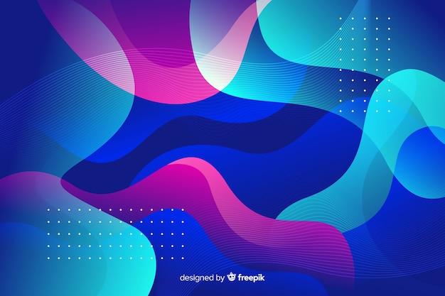 El flujo colorido abstracto forma el fondo vector gratuito